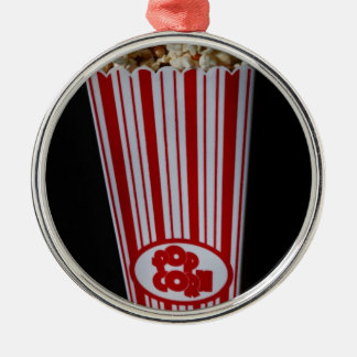 Movie Night and Popcorn Metal Ornament