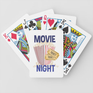 Movie Night Bicycle Playing Cards