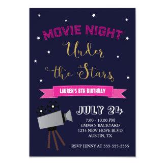 Movie Night Birthday Invitation - Under the Stars
