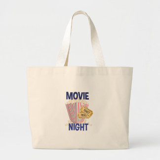 Movie Night Large Tote Bag