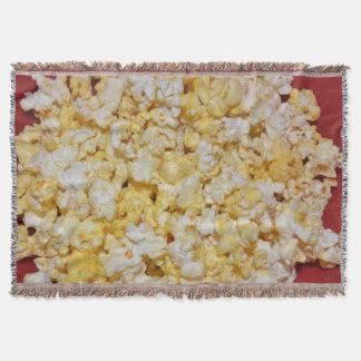 Movie Night Popcorn Snack Butter Yummy Food Art Throw Blanket
