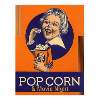 Movie Night Postcard Invitation post card Invites