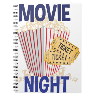 Movie Night Spiral Notebooks