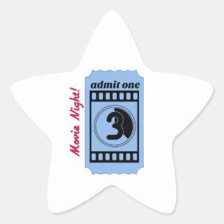 Movie Night Star Sticker