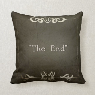 "MOVIE NIGHT~ ""THE END"" THROW PILLOW"