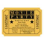 "Movie Party 5"" X 7"" Invitation Card"