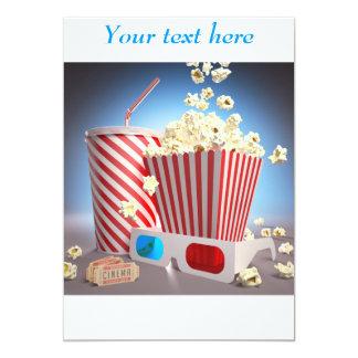 Movie popcorn invitations