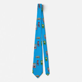 movie popcorn mens neck tie
