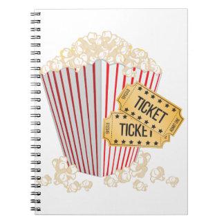 Movie Popcorn Notebook
