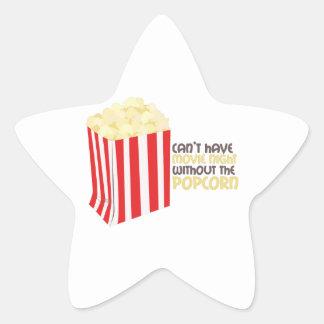 Movie Popcorn Star Sticker