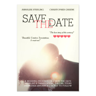 Movie Poster Save the Date Magnetic Card