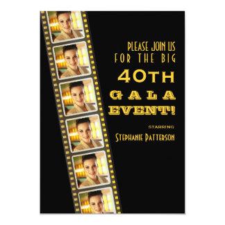 "Movie Premiere Celebrity 40th Birthday Photo Gala 5"" X 7"" Invitation Card"