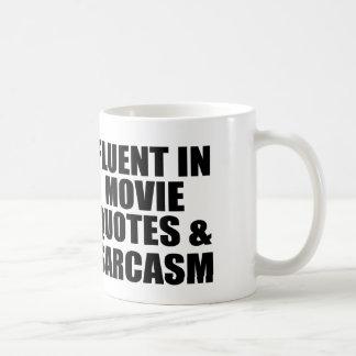Movie Quotes And Sarcasm Classic White Coffee Mug