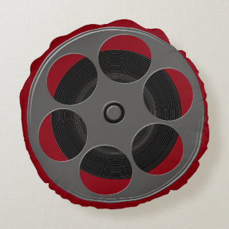 Movie Reel Round Pillow