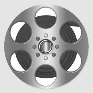 Movie Reel Round Sticker