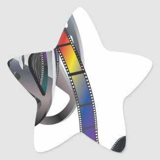 Movie Reel Star Sticker