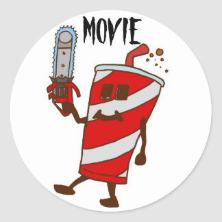 Movie Round Sticker