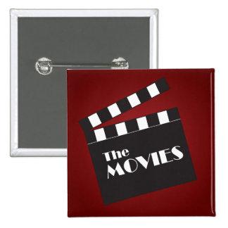 Movie Slate Clapboard 2 Inch Square Button