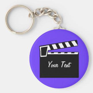 Movie Slate Clapperboard Board Basic Round Button Keychain