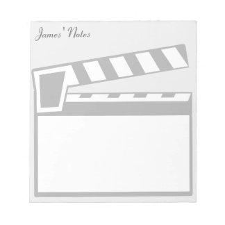 Movie Slate Clapperboard Board Notepad