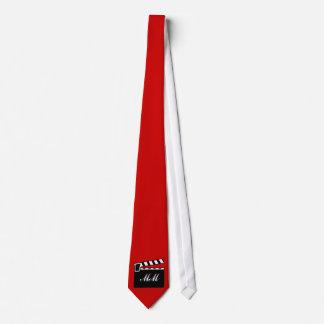 Movie Slate Clapperboard Board Tie