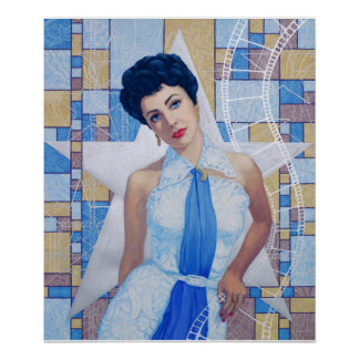 Movie Star Actress Old Hollywood fine art portrait Poster