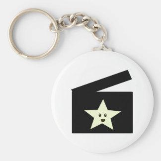 Movie Star Basic Round Button Keychain
