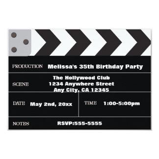 Movie Star Cinema Clapper Hollywood Invitation