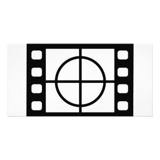 movie start icon customized photo card