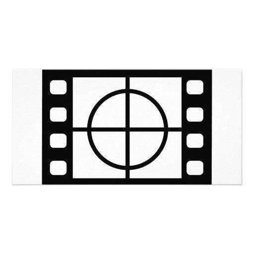 movie start icon photo card template
