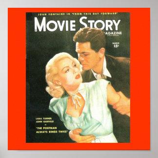 Movie Story Cover 1940's Lana Turner Print
