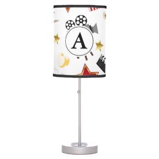 Movie Theater Cinema Personalized Monogram Table Lamp