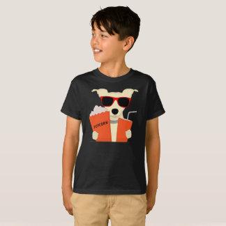 Movie Theater Dog 3D Glasses Popcorn Kids T-Shirt