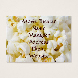 Movie Theater Popcorn Business Card