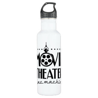 Movie Theater Time Machine podcast 710 Ml Water Bottle
