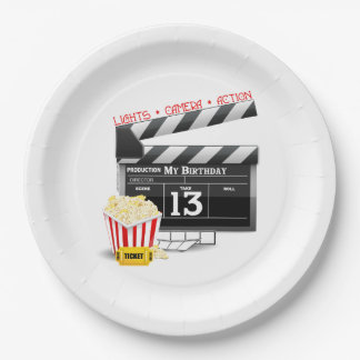 Movie Theme 13th Birthday Paper Plate