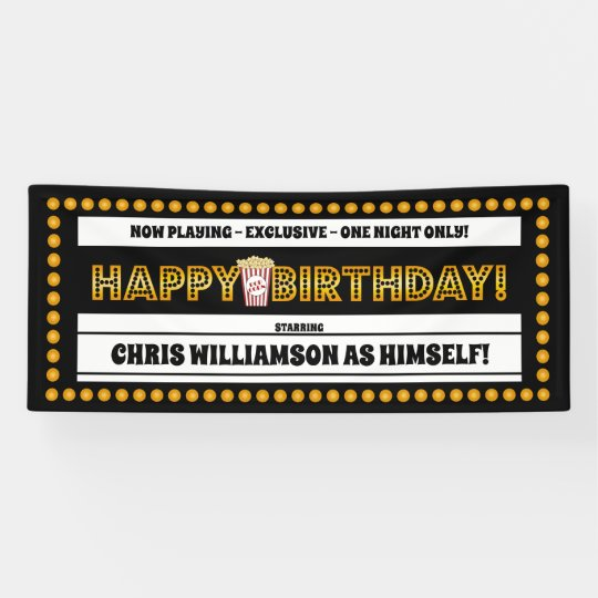 Movie Theme Birthday Banner