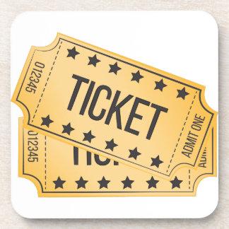 Movie Ticket Coasters
