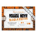 "Movie Ticket Halloween Horror Movie Party 5"" X 7"" Invitation Card"