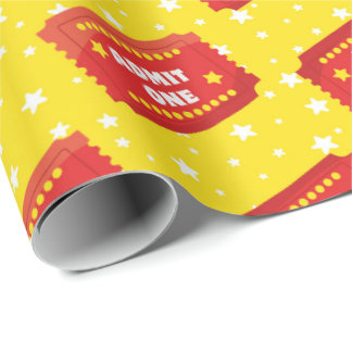 Movie ticket pattern wrapping paper
