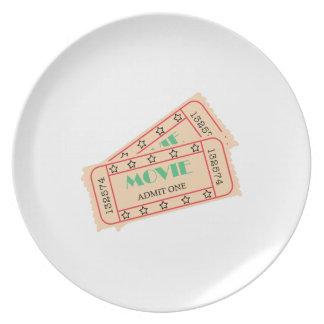 Movie Ticket Plate