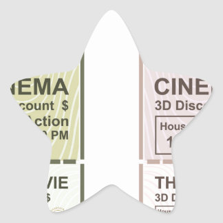 Movie Ticket Star Sticker