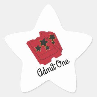 Movie Ticket Star Sticker