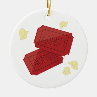 Movie Tickets Christmas Ornament