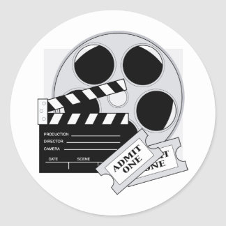 Movie Tickets Round Sticker