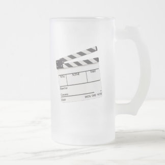 Movie Time Mug..! Frosted Glass Beer Mug