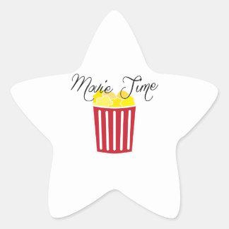 Movie Time Star Sticker