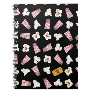 Movies and Popcorn Spiral Notebooks