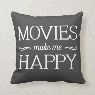Movies Happy Pillow- Assorted Styles & Colors Throw Pillow