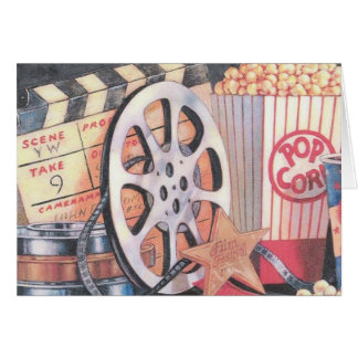 Movies, Popcorn, Film Card